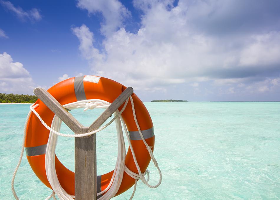 life ring at the beach